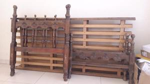Juego de cama de madera de 1 plaza
