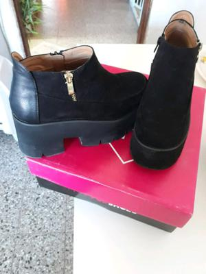 Zapatos en cuero gamuzado Sweet un solo uso
