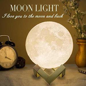 Lámpara Mydethun Moon Lámpara De Luna Grande Luz De Noche