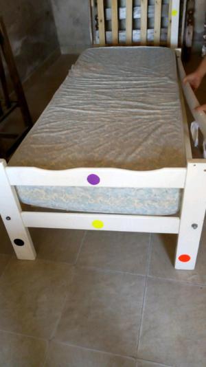 Vendo cama ms colchon para niño
