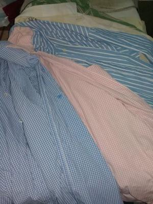 camisas poco uso total 7 talle M y L