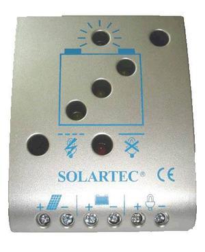 Regulador De Carga P/ Panel Solar 12v 24v 5ah Srx05 Solartec