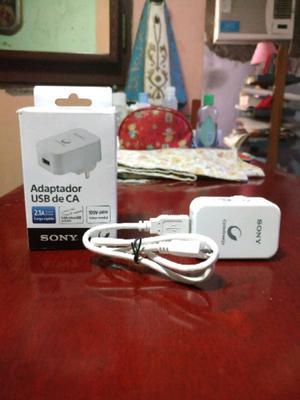 "Vdo Cargador ""Original"" Sony 2.1 A Nuevo!!"