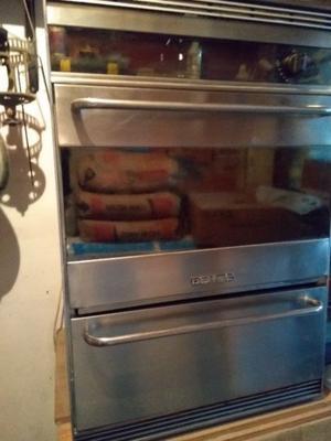 Vendo horno y anafe Domec acero inoxidable usado en buen