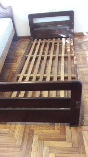 Cama de 1 plaza de madera de 0.80