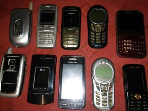 Lote de celulares andando