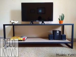 Mesa para TV estilo industrial