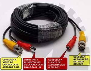 Pack 10 Cables Cctv 20mts