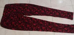 Pantalon Calza Bordo Combinado Negro Talle 40