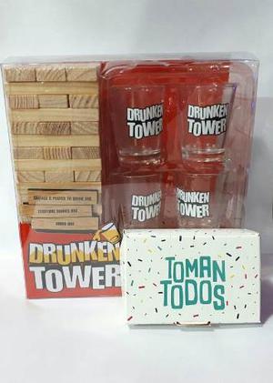 c137dec46 Toman todos + drunken tower jenga juegos para previas