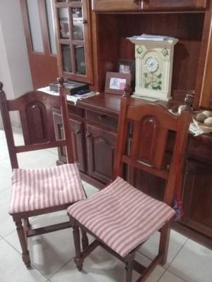 Vendo modular algarrobo +4 sillas qlgarrobo