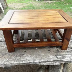 Mesita ratona rustica de madera