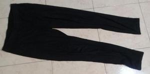 Pantalon Calza Negro Algodon Talle 38
