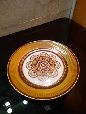 Plato Decorativo Porcelana Inglesa. Retro. Vintage.