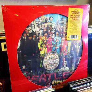 The Beatles Sgt Pepper Lonley Vinilo Picture Disc Lp Nuevo