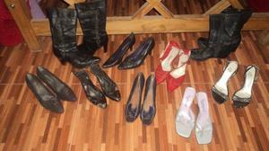 vendo lote de botas y sandalias
