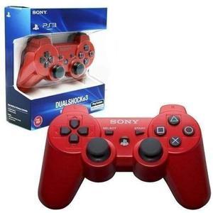 Joystick Ps3 Rojo Sony Dualshock Ps3 Original Caja Sellada