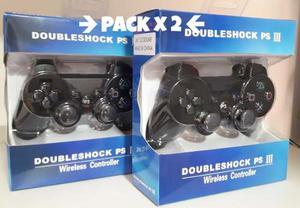 Pack X2 Control Joystick Dualshock Inalámbrico Ps3 Oferta