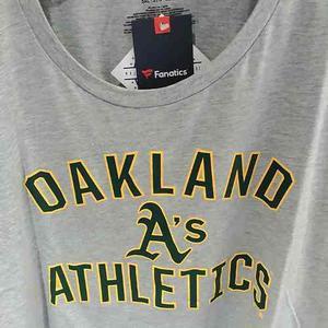 Remera Manga Larga Mlb Oakland Athletics 5xl Importada