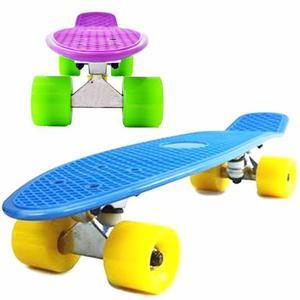 Skate Penny Patineta Mini Longboard Aluminio Colores- El Rey