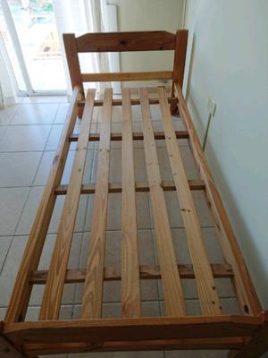 Cama de pino de 1 plaza 0,80 x 1,90 La Plata