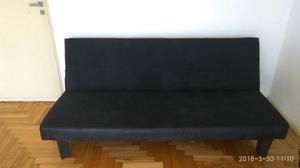 Futon Sofa Cama Usado Color Negro