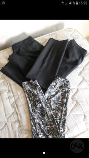 Vendo pantalones de vestir de mujer y calza