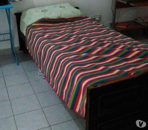 Cama 1 plaza, desarmable con colchón