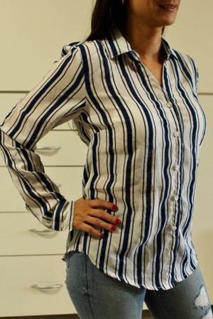 Camisa azul y blanca S Importada de USA