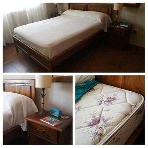 Jgo Dormitorio Paraíso y colchón Piero