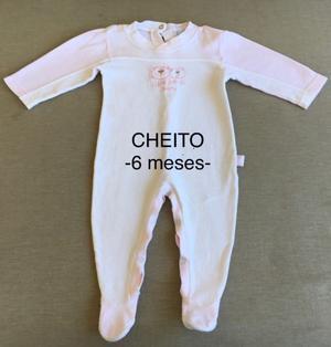 Lote Nena - 3 Enteritos Manga Larga (Talle 6 meses) CHEITOS-
