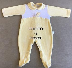 Lote Nena (Talle 3 meses) - 2 Enteritos Manga Larga CHEITOS
