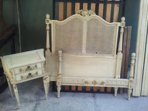 antiguo juego de dormitorio estilo frances Luis XVI, cama y