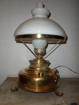 lampara velador de bronce
