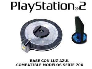 Base Con Luz Azul Para Playstation 2 Soporte Vertical 70x