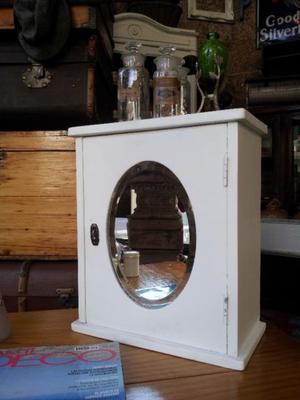 Oferta espejo biselado con bastidor de posot class - Botiquin antiguo ...
