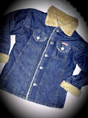 Campera de jean con corderito para niño