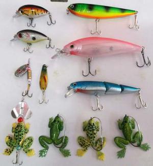 Kit 11 Señuelos / Pesca Tararira Dorado / De 5 Cm A 15 Cm