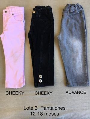 Lote 3 Pantalones de Nena - Jean y Corderoy - Talle