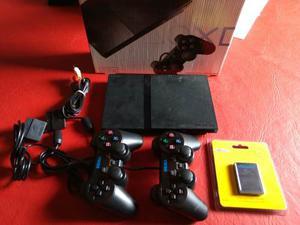 Playstation 2 Slim 2 Joysticks Memory 20 Juegos Garantia 90d