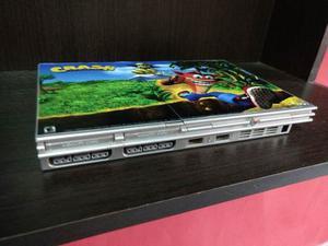 Playstation 2 Slim Silver 2 Joysticks Memory 20 Juegos