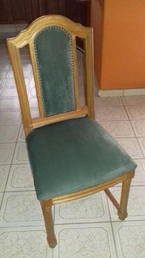 Vendo juego de 6 sillas de roble estilo ingles...