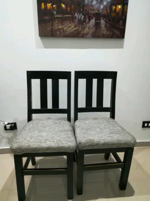 Vendo sillas madera con chenille