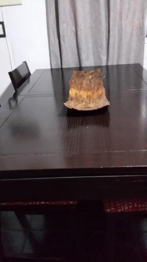 Centro de mesa de corteza de arbol