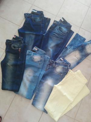 Jeans chupín talle 36 un uso