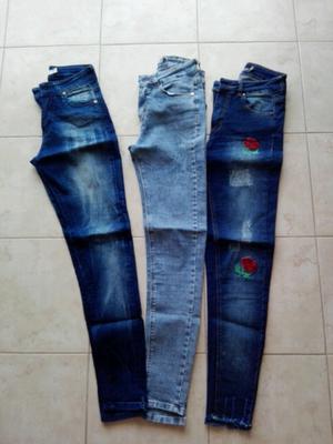 Jeans chupín talle 36 un uso como nuevos
