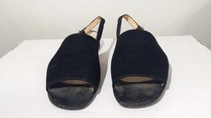 Sandalias de Mujer de Gamuza, Talle 40, Taco Bajo