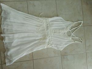 Vestido blanco forrado talle 1 sin uso