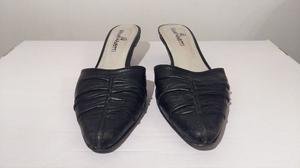 Zapatos de Cuero, Talle 36, Taco Bajo, Poco Uso