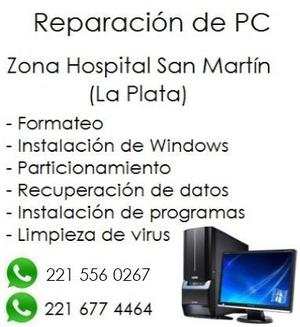 ARMADO Y REPARACIÓN DE PC EN LA PLATA. PRECIOS